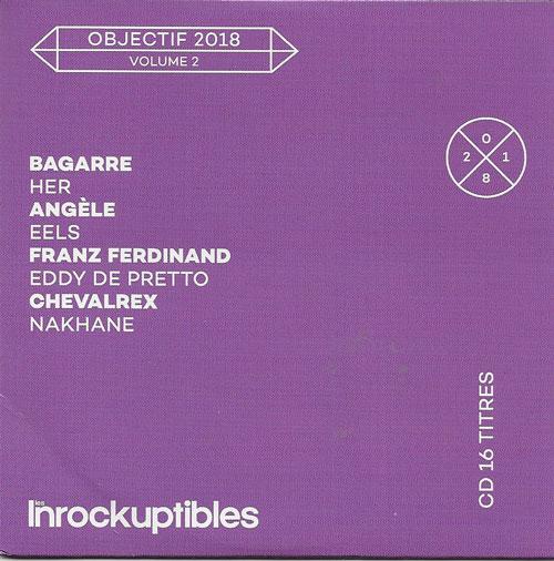 compilation Les Inrockuptibles Objectif 2018 volume 2 cover