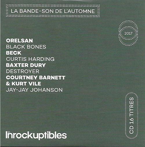 compilation Les Inrockuptibles La bande-son de l'automne 2017 cover
