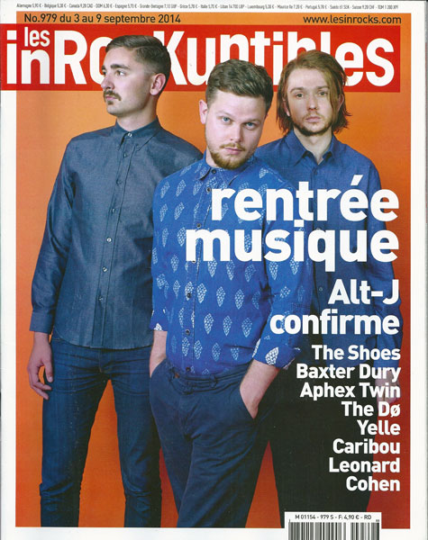 Les Inrocks 979 Septembre 2014 Alt-J