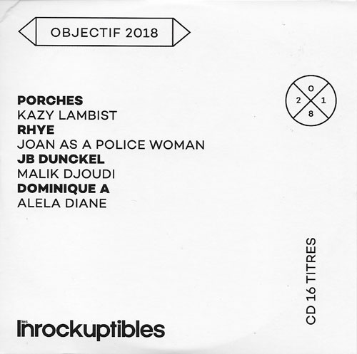 compilation Les Inrockuptibles Objectif 2018 cover