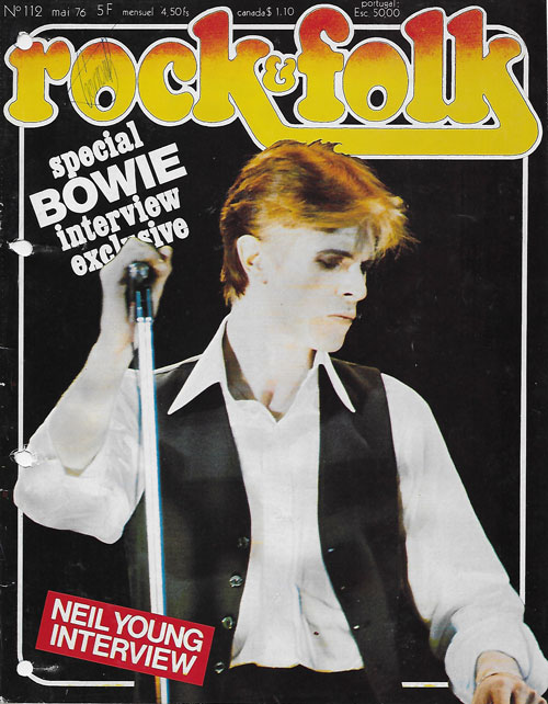 Rock & folk n°112 Mai 1976 David Bowie Cover