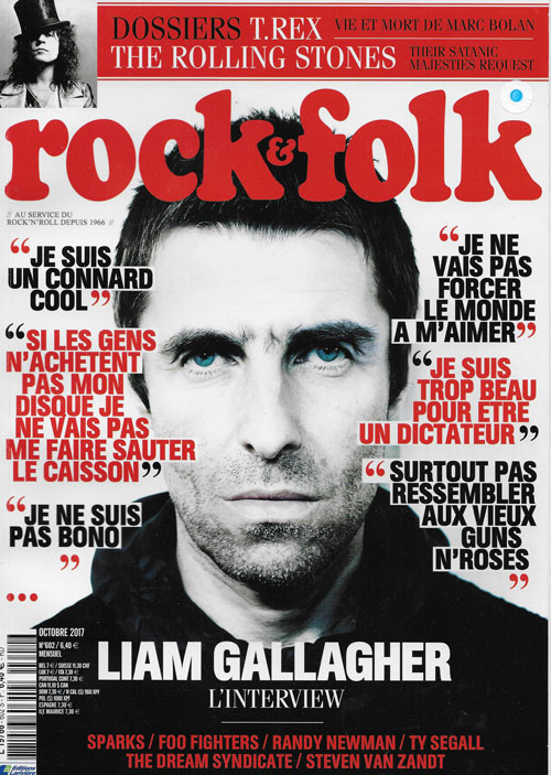 Rock & Folk 602 octobre 2017 cover Liam Gallagher