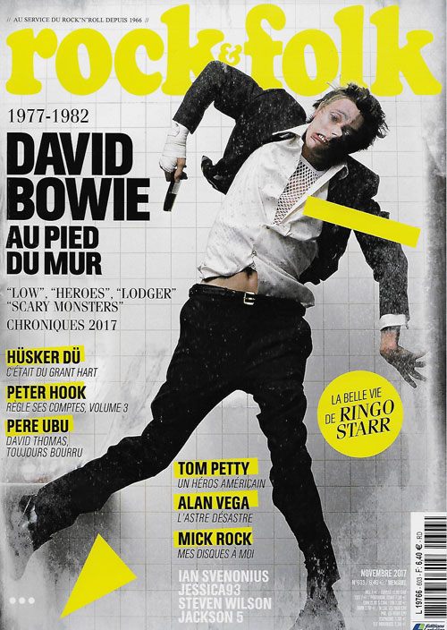 Rock & Folk 603 novembre 2017 cover David Bowie