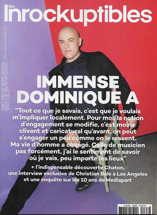 Les Inrockuptibles n°1163 Dominique A cover