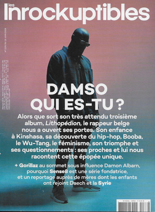 Les Inrockuptibles 1176 2018 06 Damso cover