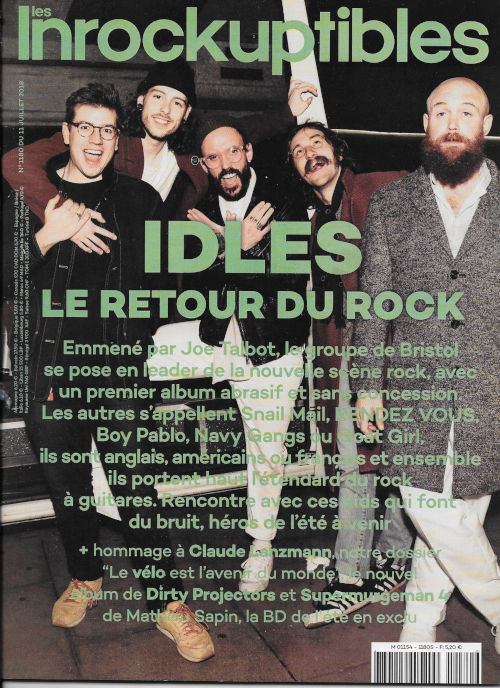Les inrockuptibles 1180 2018 07 Idles cover