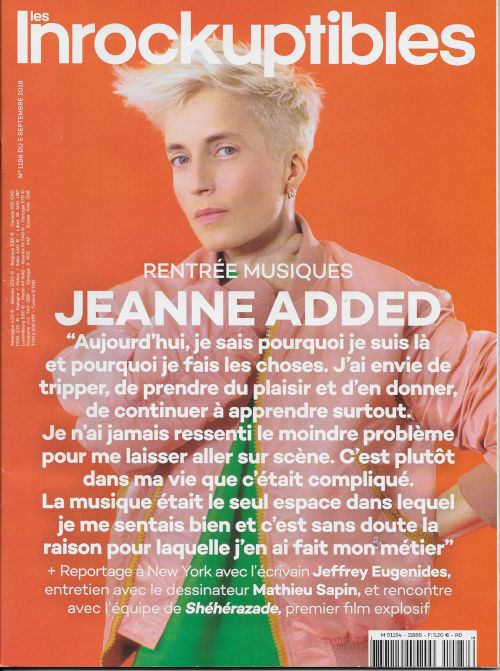 Les Inrockuptibles 1188 2018 09 Jeanne Added cover