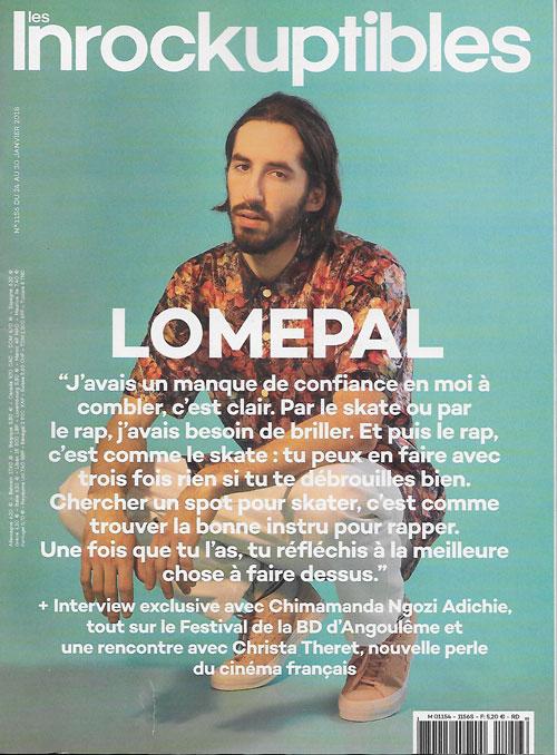 Les Inrockuptibles n° 1156 Janvier 2018 cover