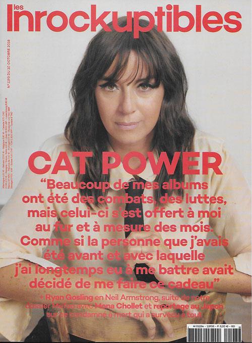 Les Inrockuptibles 1193 du 10 octobre 2018 Cat Power cover