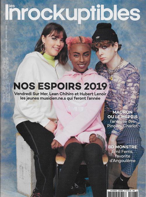 Les Inrockuptibles n° 1208 23 janvier 2019 cover