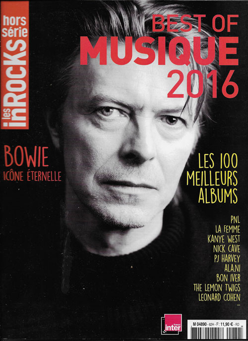 Les Inrocks Hors Série Best of 2016 cover